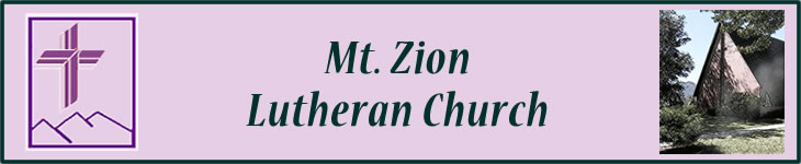 Mt. Zion Church banner